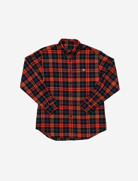 TAGGING CHECK SHIRTS - ORANGE brownbreath
